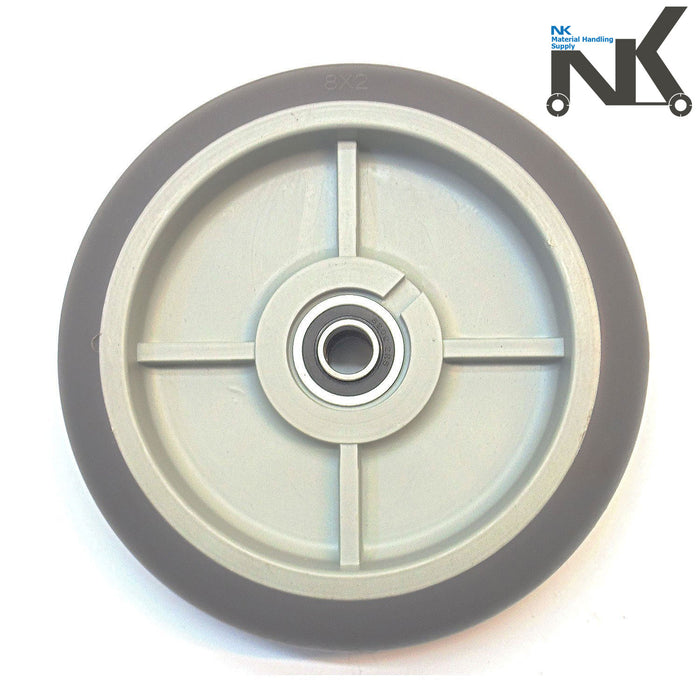 "NK Non Marking TPR Flat Free Hand Truck/Utility Wheel, 8"" Wheels-NK-RK Safety"
