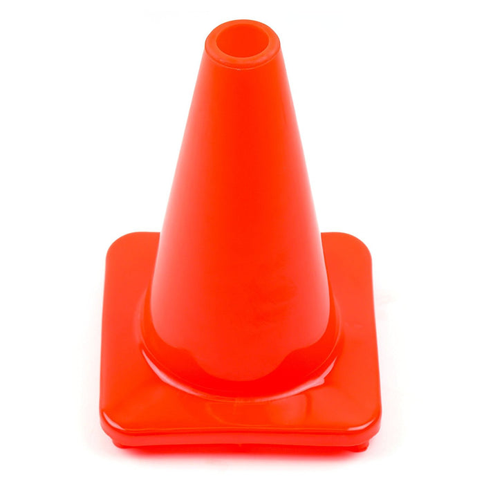 "(Set of 10) 12"" PVC Traffic Safety Cones, Plain - Orange - RK Safety"