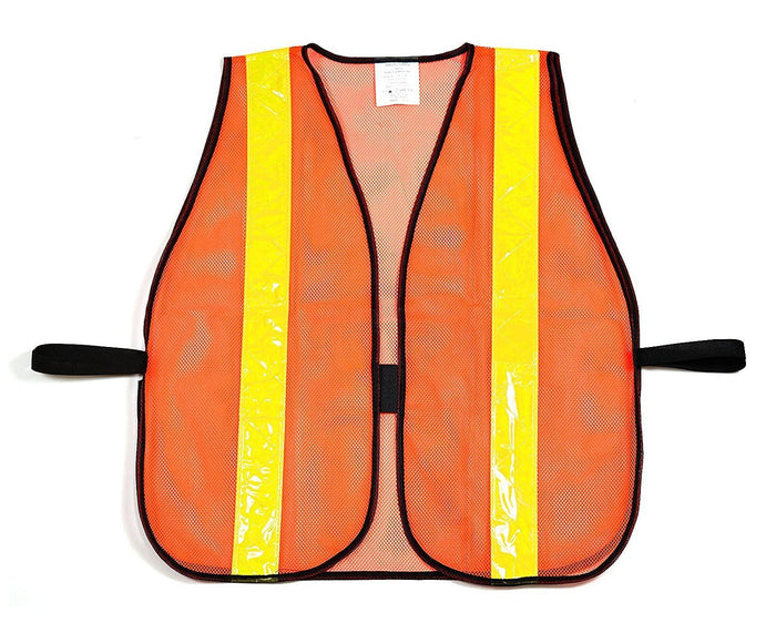 RK Safety Vest with Reflective Stripes - Orange-New York Hi-Viz Workwear-RK Safety