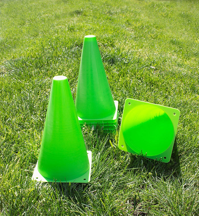 (Set of 10) RK Sports Plastic Sport Cones - Green - RK Safety