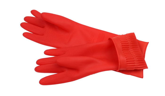 Rubber Cleaning Gloves Kitchen Dishwashing Glove 2-Pair,Waterproof Reuseable, Made in Korea-RK-THRG-RK Safety-RK Safety