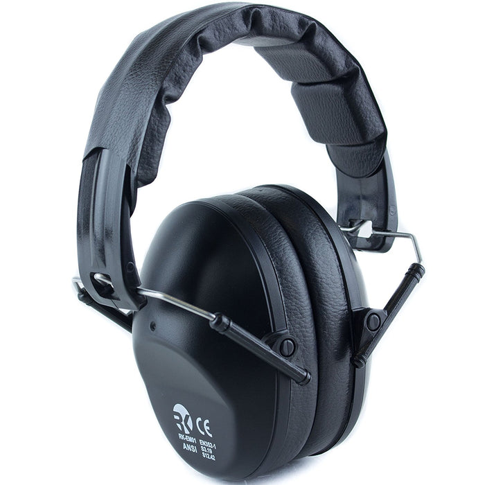 RK Shooting Hearing Protection Folding-Padded Ear Muff - Black - RK Safety