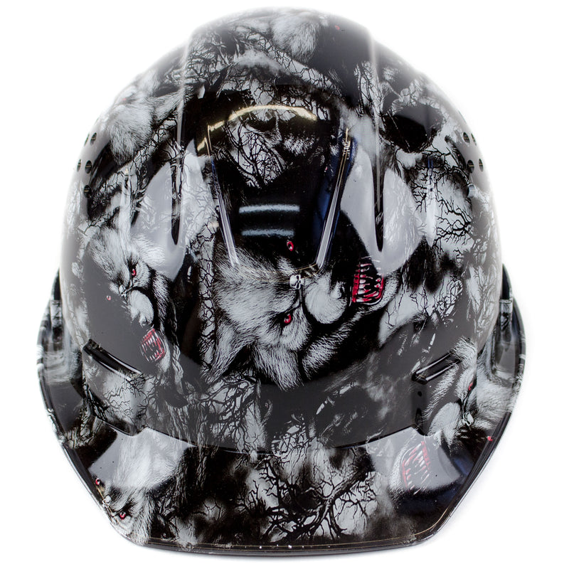 RK Safety RK-HP34-WOLVES Wolves Designed Hard Hat Cap Style with 4 Point Ratchet Suspension-RK Safety-RK Safety