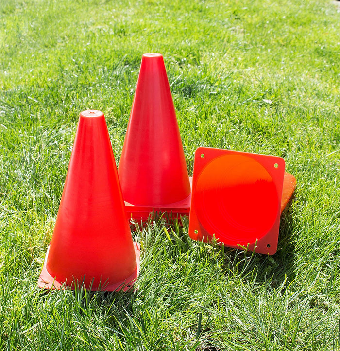 (Set of 10) RK Sports Plastic Sport Cones - Red-RK Safety-RK Safety