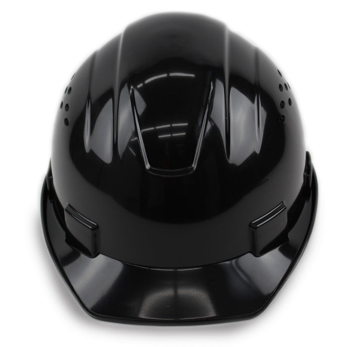 RK Safety RK-HP14-BK Hard Hat Cap Style with 4 Point Ratchet Suspension (Black)-RK Safety-RK Safety
