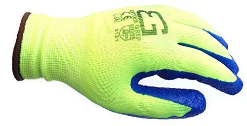 Better Grip® BGSCL Nylon Gloves Textured Latex Coating Gripping, 6pairs, Lime - RK Safety