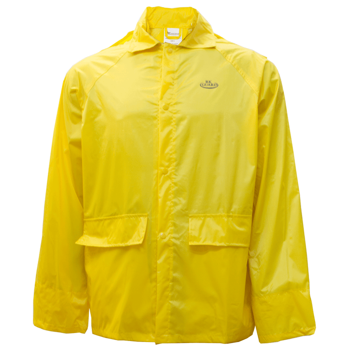Yellow PVC Polyester 3-Piece Rain Suit | Jacket, Hoodie, Pants-RW-PP-YEL33-RK Safety-RK Safety