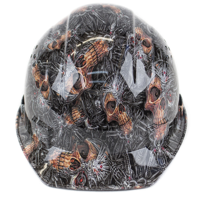 RK Safety RK-HP34-SKULL Skull Designed Hard Hat Cap Style with 4 Point Ratchet Suspension-RK Safety-RK Safety