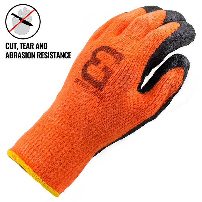 Better Grip® Insulated Rubber Coated Crinkle Gloves - BGWLAC-OR - RK Safety