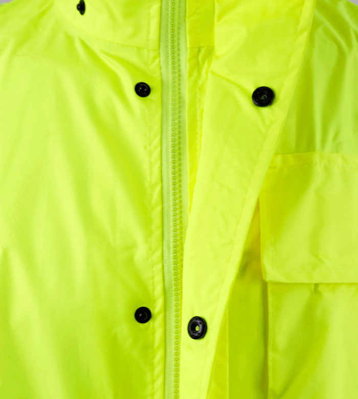 Class 3 Rain Suit High Visibility Reflective Black Bottom RW-CLA3-LM11 - RK Safety