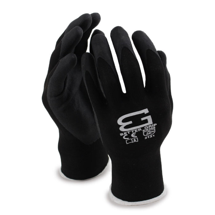 Micro Foam Nitrile Coated Nylon Work Glove - BGFLEXMF-BK - RK Safety
