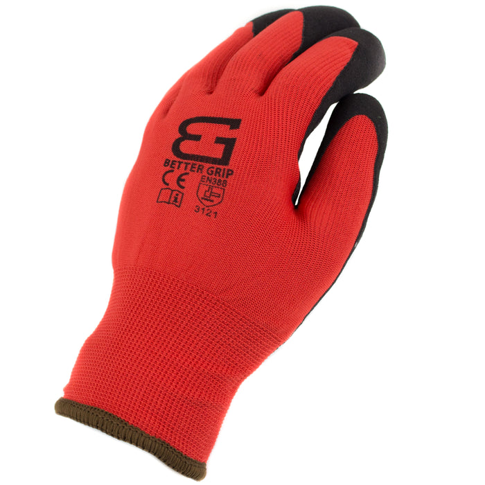 Better Grip® Double Lining Rubber Coated Gloves - BGWANS-RD-CS - RK Safety
