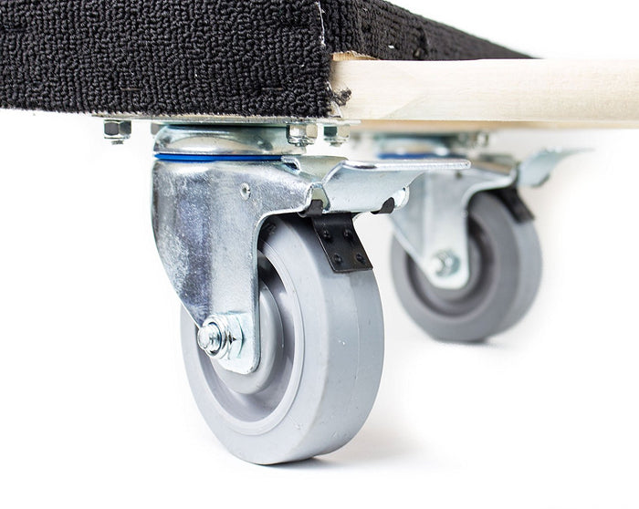 NK Furniture Movers Dolly, Soft Gray Non-marking TPR Wheels -Black - RK Safety