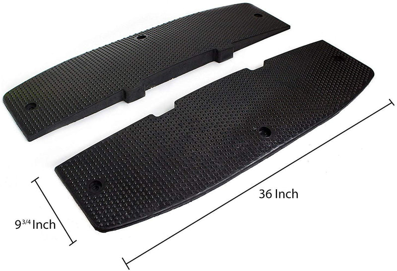 RK Modular Speed Hump, Middle Section (36 Inch X 240 Inch) + End Caps-RK Safety-RK Safety