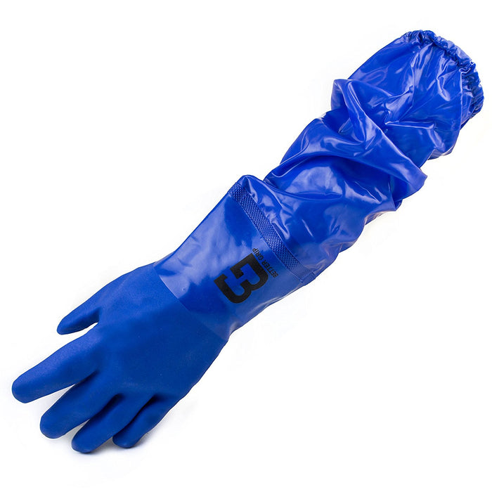 Better Grip Premium Double Coated 23 inch PVC Chemical Resistant Gloves-BG26PVC-BLU-Better Grip-RK Safety
