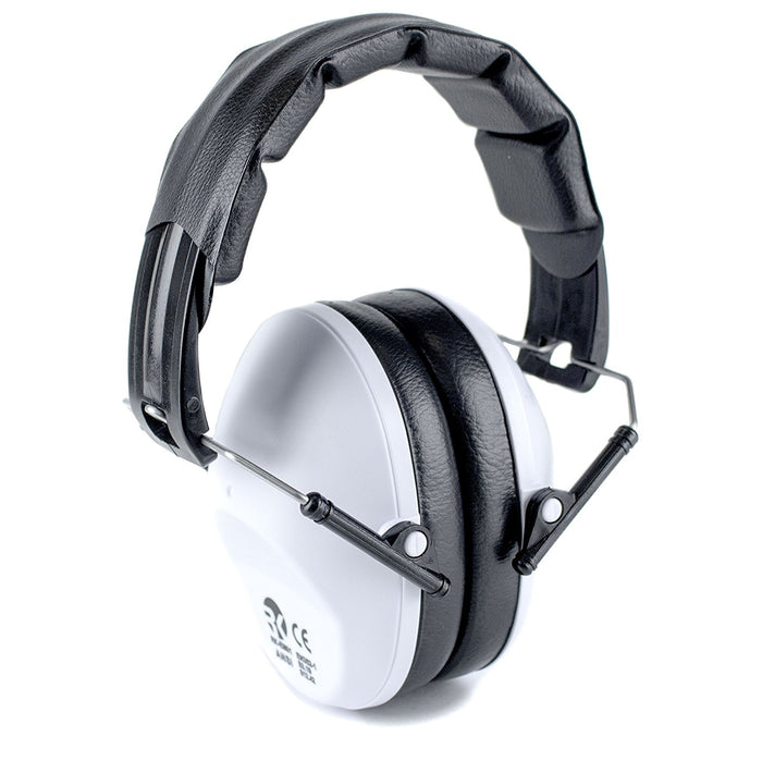 RK Shooting Hearing Protection Folding-Padded Ear Muff - White - RK Safety