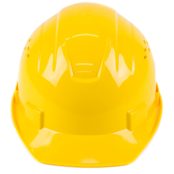 RK Safety RK-HP14-YEL Hard Hat Cap Style with 4 Point Ratchet Suspension (Yellow)-RK Safety-RK Safety