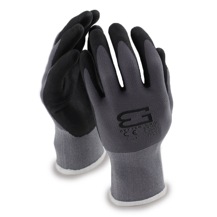 Micro Foam Nitrile Coated Nylon Work Glove - BGFLEXMF-GY - RK Safety