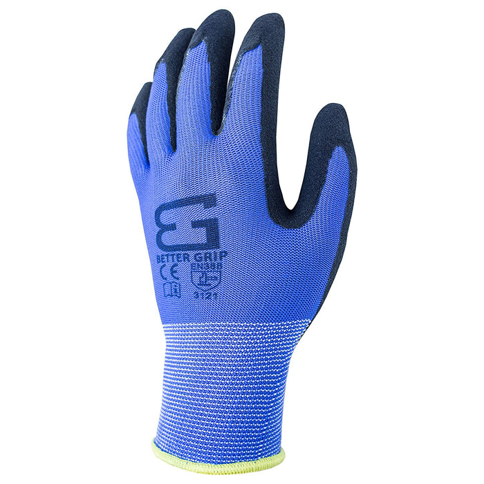 Better Grip® Ultra Thin Sandy Latex Coated Gloves - BGSBL1 - RK Safety