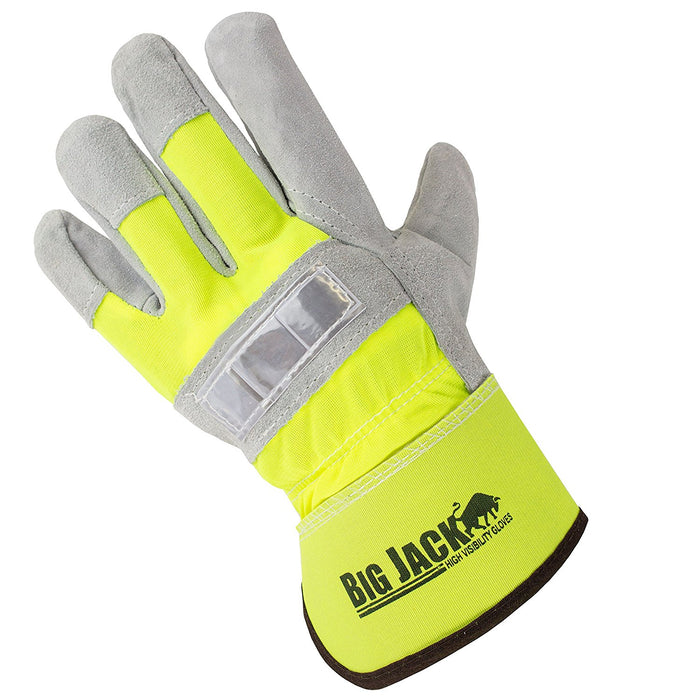 Better Grip® Hi Visibility Cowhide Leather Palm Gloves - BGBYHVG-Better Grip-RK Safety