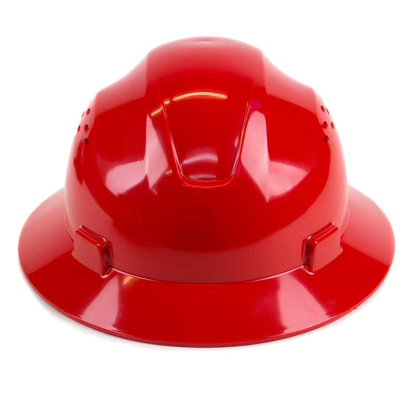RK Safety RK-HP24-RD Red Hard Hat Brim Style with 4 Point Ratchet Suspension-RK Safety-RK Safety