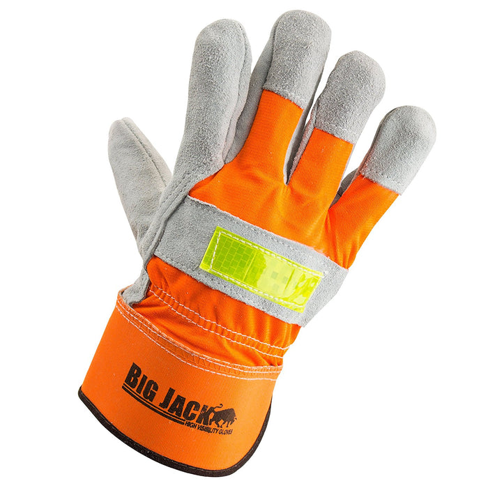 Better Grip® Hi Visibility Cowhide Leather Palm Gloves - BGBYHVO - RK Safety