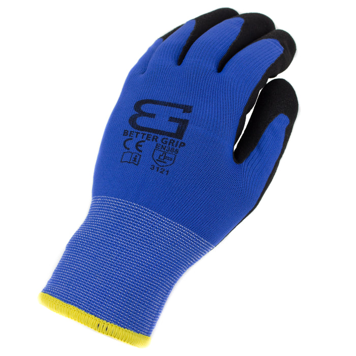 Better Grip® Double Lining Rubber Coated Gloves - BGWANS-BLU-Better Grip-RK Safety