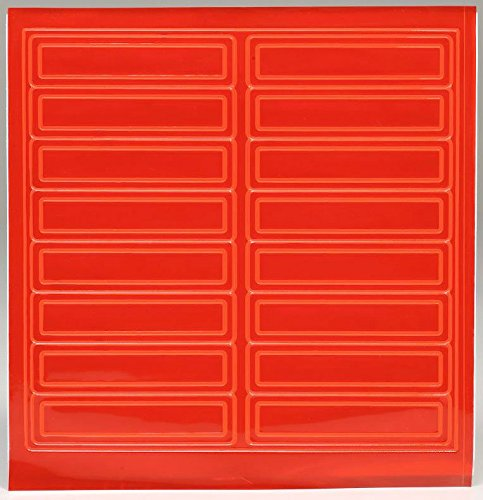 Adhesive Vinyl Reflective Hard Hat/Helmet Sticker - Orange - RK Safety