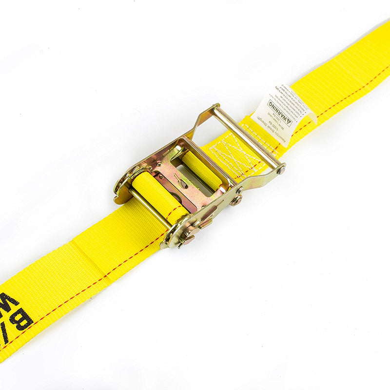 "NK-RCE2X12 2"" x 12ft Durable Yellow Ratchet Strap-NK-RK Safety"