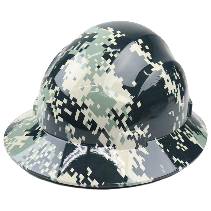 Safety RK-HP44-CAMO Designed Hard Hat Brim Style with 4 Point Ratchet Suspension-RK Safety-RK Safety