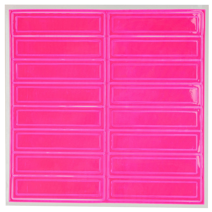 Adhesive Vinyl Reflective Hard Hat/Helmet Sticker - Pink - RK Safety