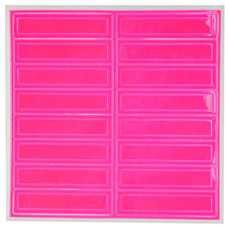 Adhesive Vinyl Reflective Hard Hat/Helmet Sticker - Pink-RK Safety-RK Safety