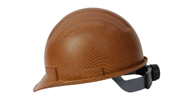 RK Safety RK-HP34 Hard Hat Cap Style with 4 Point Ratchet Suspension (1 EA, Brown)-RK Safety-RK Safety