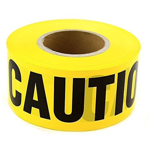 "RK High-Visibility Yellow Caution Barricade Tape 3"" X 1000 Feet, Tear Resistant Design-RK Safety-RK Safety"
