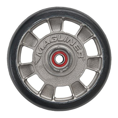 "Magline 10815 8"" Diameter Mold On Rubber Wheel with Red Sealed Semi Precision Ball Bearings-Magliner-RK Safety"