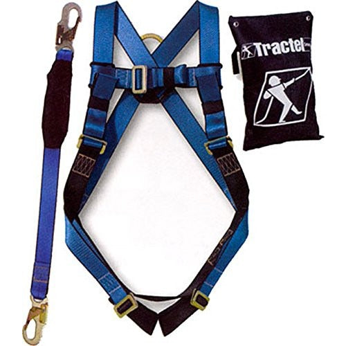 Spidergard Safety Fall Protection Kit, Full Body Harness, with 6' Shock-absorbing Lanyard-Spidergard-RK Safety