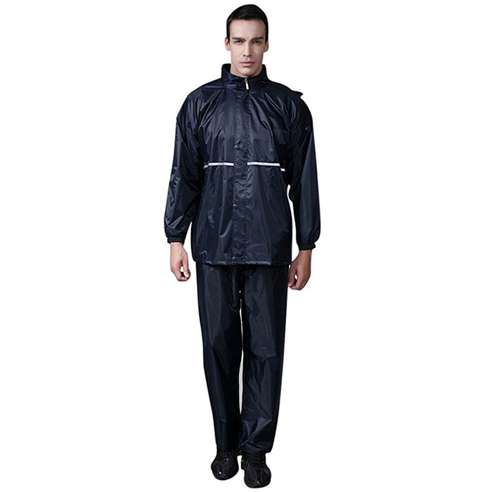 RK Premium Men's Waterproof Hooded Rain Suit, Reflective Strip - RK Safety