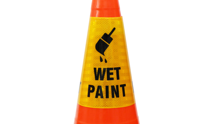 "RK Safety ""Wet Paint"" Bright Reflective Cone Message Sleeve, [Cone Not Included]-RK Safety-RK Safety"