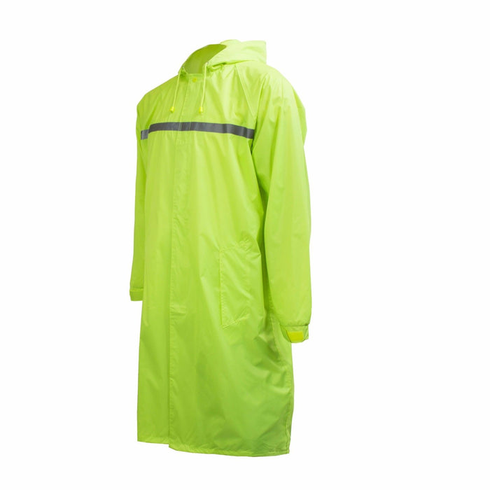 Men's Waterproof Long Raincoat PVC Trench Coat - Lime - RK Safety