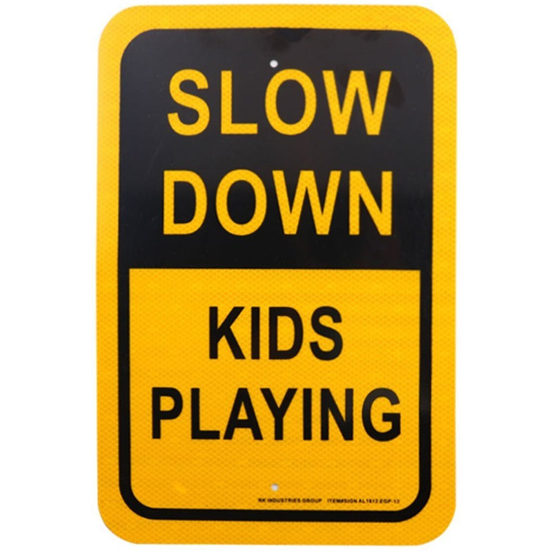 "RK Safety Sign, Legend ""Slow Down, Kids Playing""-RK Safety-RK Safety"