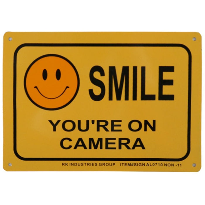 "RK Safety Sign, Legend ""Smile, You're on Camera"" - RK Safety"