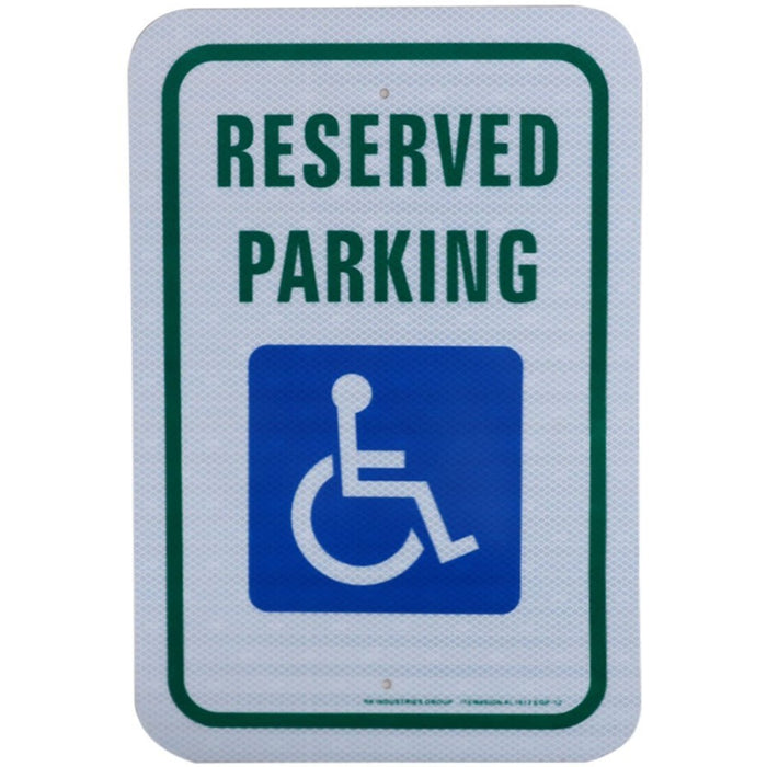 "RK Safety Sign, Legend ""Reserved Parking"" - RK Safety"