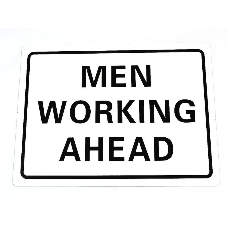 "RK MEN2418 Traffic Sign, Legend ""MEN WORKING AHEAD"", 24""L x 18""H-RK Safety-RK Safety"