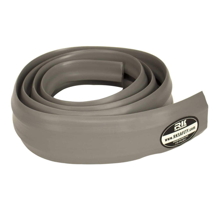 RK Safety 6.5 Feet in Length Gray PVC Floor 3 Cord Protector - Flexible to Cover Cables, Cords and Wires - Great for The Home, Office, Warehouse or Concerts - Easy to Unroll and Open (Grey)-RK Safety-RK Safety