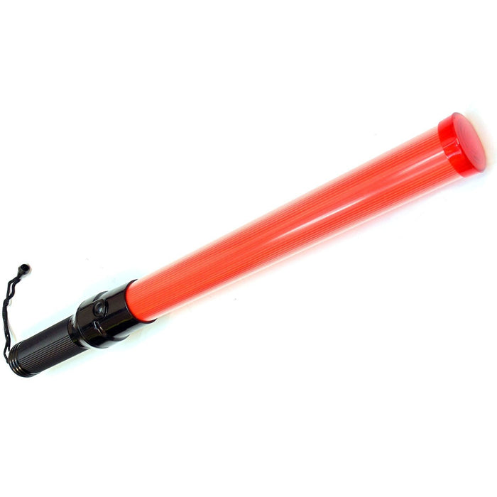 Signal Traffic Wand Baton LED Flashlight with Wrist Strap - Red-RK Safety-RK Safety