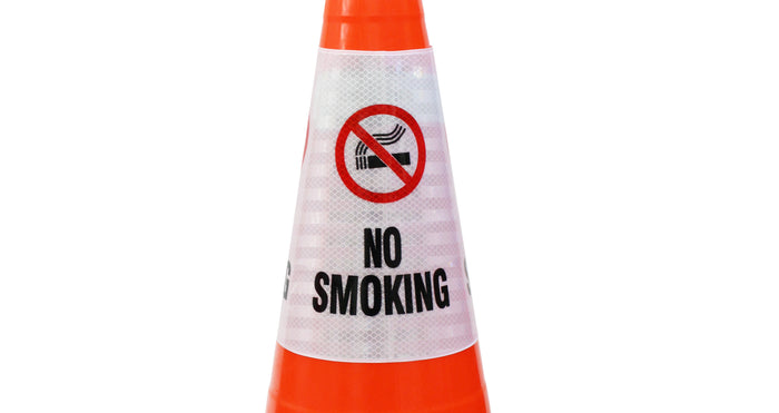 "RK Safety ""No Smoking"" Bright Reflective Cone Message Sleeve, [Cone Not Included]-RK Safety-RK Safety"
