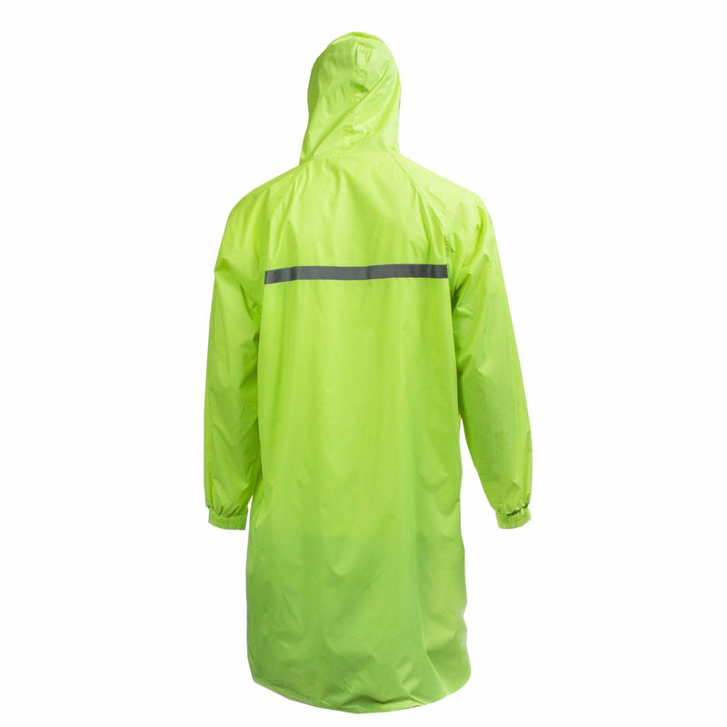 Men's Waterproof Long Raincoat PVC Trench Coat - Lime-RK Guard-RK Safety