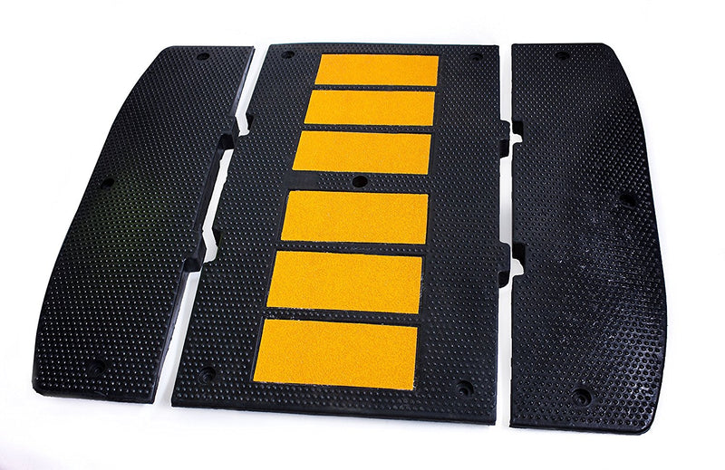 RK Modular Speed Hump, Middle Section (36 Inch X 80 Inch) + End Caps-RK Safety-RK Safety