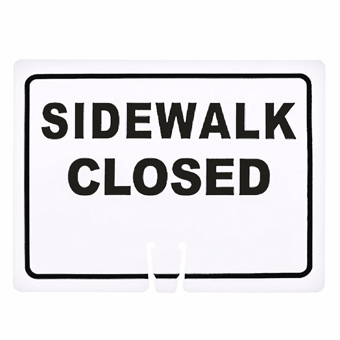 "RK Traffic Cone Sign 16 Legend ""Sidewalk Closed"", 18"" Width x 14"" Height, Black on White - RK Safety"