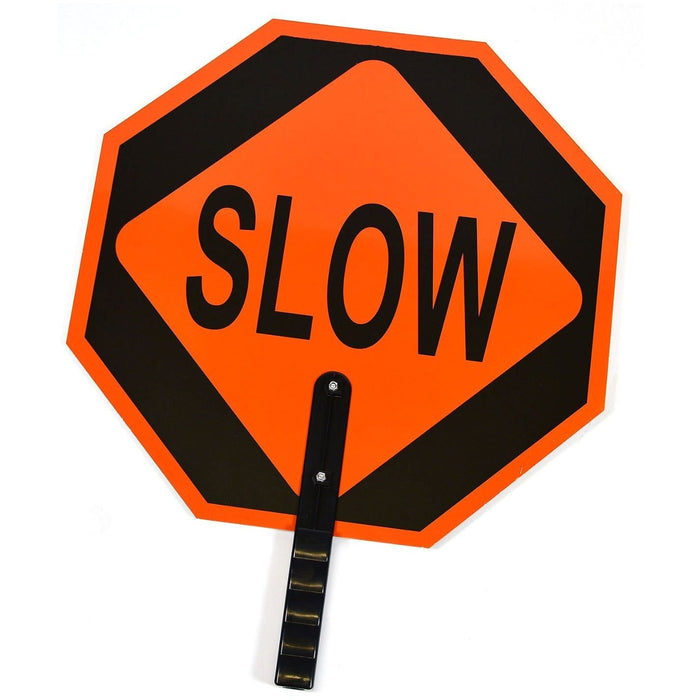 "RK STSL Stop/Slow Paddle Sign, Aluminum, 6"" Polygrip Handle - RK Safety"